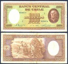 CHILE 1000 Pesos 1947 Fine+ P 107 b
