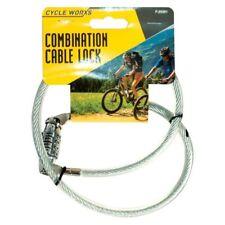 2X 4 cifre Heavy Duty Combinazione Bicicletta Cavo a spirale in acciaio Pad Lock UK