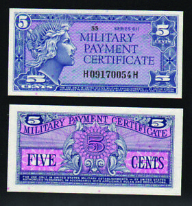 MPC Series 611 5 cents gem uncirculated--nicely centered