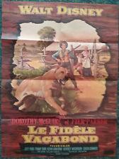 Affiche Cinéma - 1957 - LE FIDELE VAGABOND - Walt Disney - Mc Guire & F Parker -