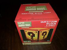 Super Mario Bros Question Mark Block Lamp Classic Night Light Official NES