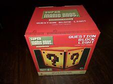 Super Mario Bros Question Mark Block Lamp Classic Night Light Official NES