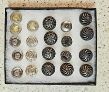 Sewing Buttons Lot Vintage Metal -6 Sets
