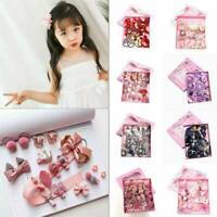 18Pcs Baby Girl Hair Clip Bow Flower Mini Barrettes Party Kids Hairpins Headwear