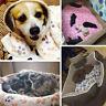 UK WARM PET MAT CAT DOG PUPPY PAW BONE PRINTED SOFT FLEECE BLANKET BED CUSHION
