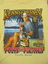 M yellow KENNY CHESNEY POETS AND PIRATES TOUR t-shirt by GILDAN