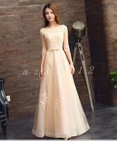 Hot Women Long Chiffon Evening Formal Party Cocktail Dress Bridesmaid Prom Gown