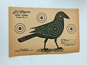 """J.C. HIGGINS """" crow  target """" sold by SEARS, ROEBUCK  1950s  RIFLE target"""