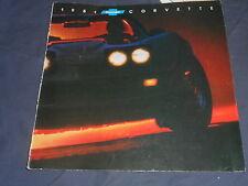 1981 Chevy Chevrolet Corvette Color Brochure Prospekt
