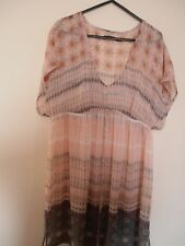 Dotti Dress Boho Chiffon Sheer Tunic 14