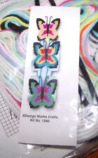 Design Works BUTTERFLY TOILET PAPER CADDY  Plastic Canvas Kit