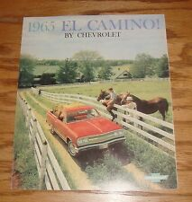 1965 Chevrolet El Camino Sales Brochure 65 Chevy