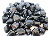 BLACK AGATE Tumbled Stone 25mm Chunky QTY3 Healing Crystal Manifest Desires