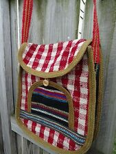New Peruvian Wool Bag Hand Bag Hand Made Unisex.