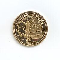 Medaille Leichtathletik WM 2009 Berlin Dtsche Prägestätten Ø 25 mm 3 Gr. B64