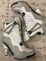Air Jordan Pumps High Heels 378502-001 White and Grey Leather Women's Size 7