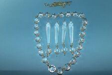 50x Kristall Glas Octagons 16mm Lüster Ketten Leuchter Koppen Prismen Ersatzteil