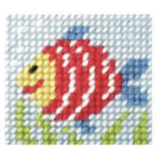 Kit de bordado de Orchidea-Rainbow Fish-Needlecraft Kits-libre de Reino Unido P&p