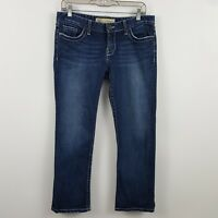 BKE Denim Buckle Madison Stretch Cropped Women's Blue Jeans Size 30