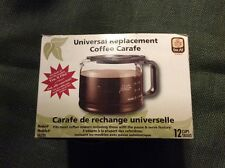 'One All' 12 Cup Universal Replacement Coffee Carafe New in Box