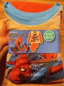 Spider-Man 2-Piece Fleece Pajama Set Boy 10/12 New