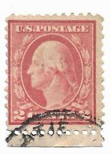 US Postage Stamp 2 Cent Washington Carmine, Scott #526 Perf 11,1918-20   g4b29
