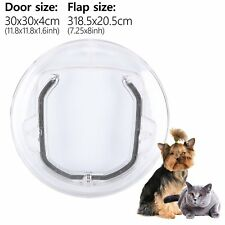 Round Pet Door for Cats and Small Dogs 4 Ways Flap Door for Screen Glass Window