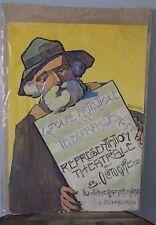 Projet Affiche 1921 Duvivier GROUPE ARTISTIQUE TELEGRAPHISTES Mayence MILITAIRE