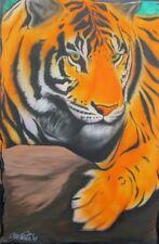 """Fire Tiger 虎"" 13 x 19"" Art Print. Sales Benefit Big Cat Rescue. Buy Now!"