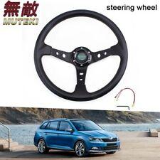 """MUTEKI 14"""" Racing Universal  6 Bolt Steering Wheel Horn Button 95mm Deep Dish"""