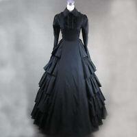 Lolita Victorian Princess Long Sleeves Black Fancy Dress Uniform Cosplay Costume