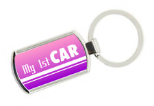 My 1st Car Keyring - Gift Idea Passed Test First Keys fob Girls Daughter Niece