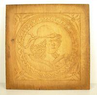 Profile D' Man Figural Panel Wood Carved Carved Wooden Panel 30 CM