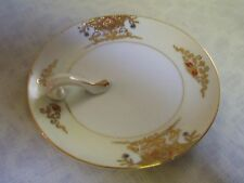 Noritake Raised Gold Porcelain Candle Drip Plate Japan US Designate Applied For