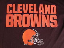 NFL Cleveland Browns Football T-Shirt Youth XL Size 18 RAISED BROWNS LOGO NWT !!