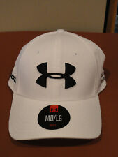 NEW Under Armour Golf Men's Official Tour Cap (White/Black). Size: LG/XL.