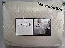 Charter Club Damask Quilted FULL / QUEEN Coverlet & Shams Set Parchment