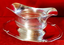 sauce-boat plate solid silver minerve Savary 830 grams silver sauceboat