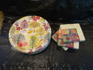 Thanksgiving Paper Napkins, Plates ALL NEW    #6