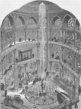 LEICESTER SQUARE. The Panopticon, in 1854. London c1880 old antique print