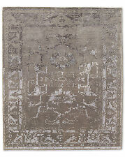 Restoration Hardware Arte Silver / White Hand Knotted Rug 6x9 Wool $4189