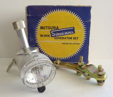 Mitsuba Super Mini Block Generator and Headlamp Set 6V-3W NOS for Vintage Bikes