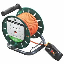 25m Masterplug Cable Reel Extension Lead with RCD Switched 4 Socket 10A