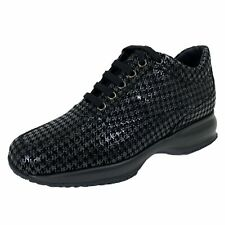 C01 sneakers donna HOGAN INTERACTIVE black suede glittery shoes women