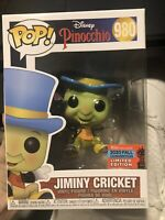 Funko Pop! Disney Pinocchio Jiminy Cricket #980 NYCC 2020 Shared Exclusive