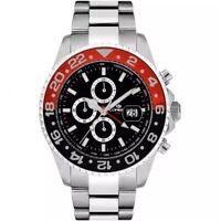 Lorenz Orologio Uomo Cronografo Collezione Submarine Nero Rosso 030182BB