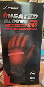 MOVTOTOP HEATED GLOVES Battery Heated/Rechargeable Waterproof Sz LARGE-new