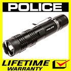 POLICE Stun Gun M12 650 BV Heavy Duty Metal Rechargeable LED Flashlight Black <br/> 650 Billion Stun Gun + Lifetime Warranty + FREE Case