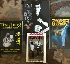 Karate Books (Lot Of 4) - Bruce Lee, Chuck Norris, Bill Wallace, Sang Kim