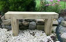 More details for handmade 2 seater wooden sleeper bench seat rustic garden furniture